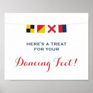 Nautical LOVE Flags Dancing Feet Sign