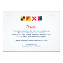 Nautical LOVE Flags Wedding Details Invitation