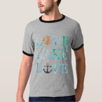 Nautical Love Lake Like Ships Boat Typography T-Shirt