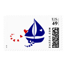 Nautical Love Postage Stamps