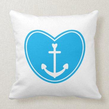 Beach Themed Nautical Love Throw Pillow
