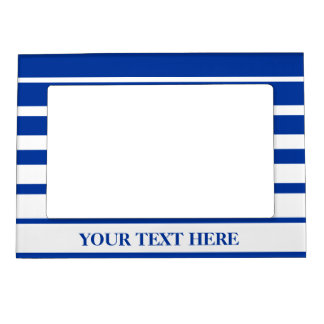 Nautical magnet photo frame | Blue and white