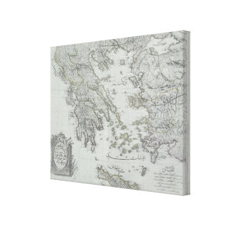 Nautical Map Canvas Print