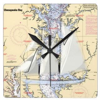 Nautical Map chesapeake Bay clock