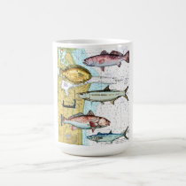 Nautical map coffe mug