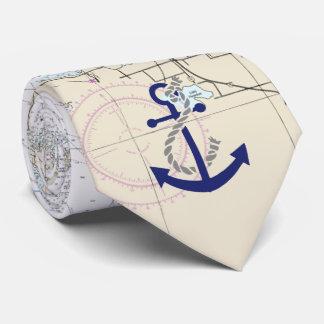 Nautical Map Decor Neck Tie