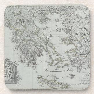 Nautical Map Drink Coaster