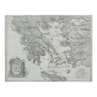 Nautical Map Postcard