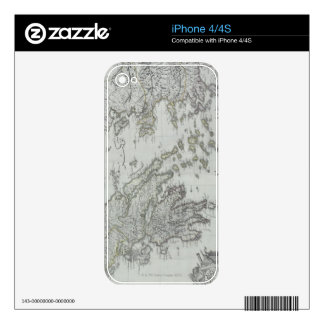 Nautical Map Decals For iPhone 4