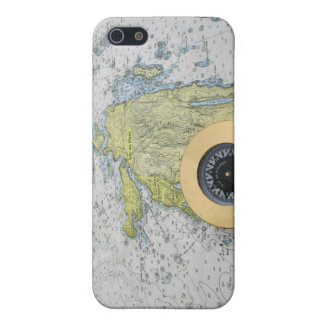 Nautical Map Speck Case