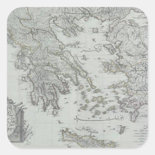 Nautical Map Sticker