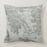 Nautical Map Throw Pillow