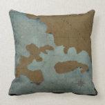 Nautical maps pillow, Copyright Karen J Williams