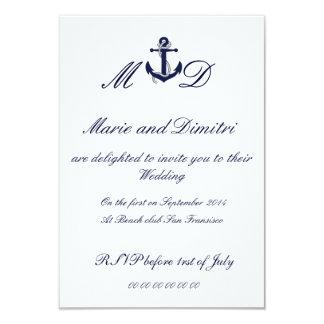Nautical Marriage invitation