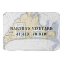 Nautical Martha's Vineyard Chart Bath Mat