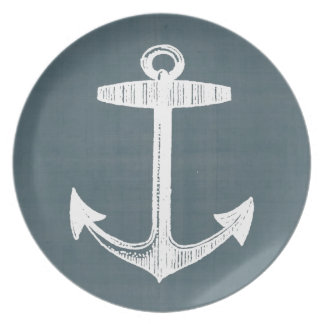 Nautical Melamine Plate