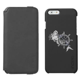 Nautical Mermaid Theme Design iPhone 6/6s Wallet Case