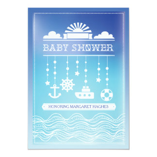 Nautical Mobile Baby Shower Invitation