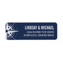 Nautical Modern Compass Label