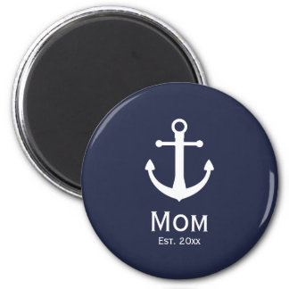 Nautical Mom Est. Keychain Magnet