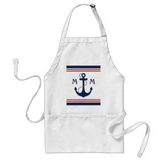 Nautical Monogram Adult Apron