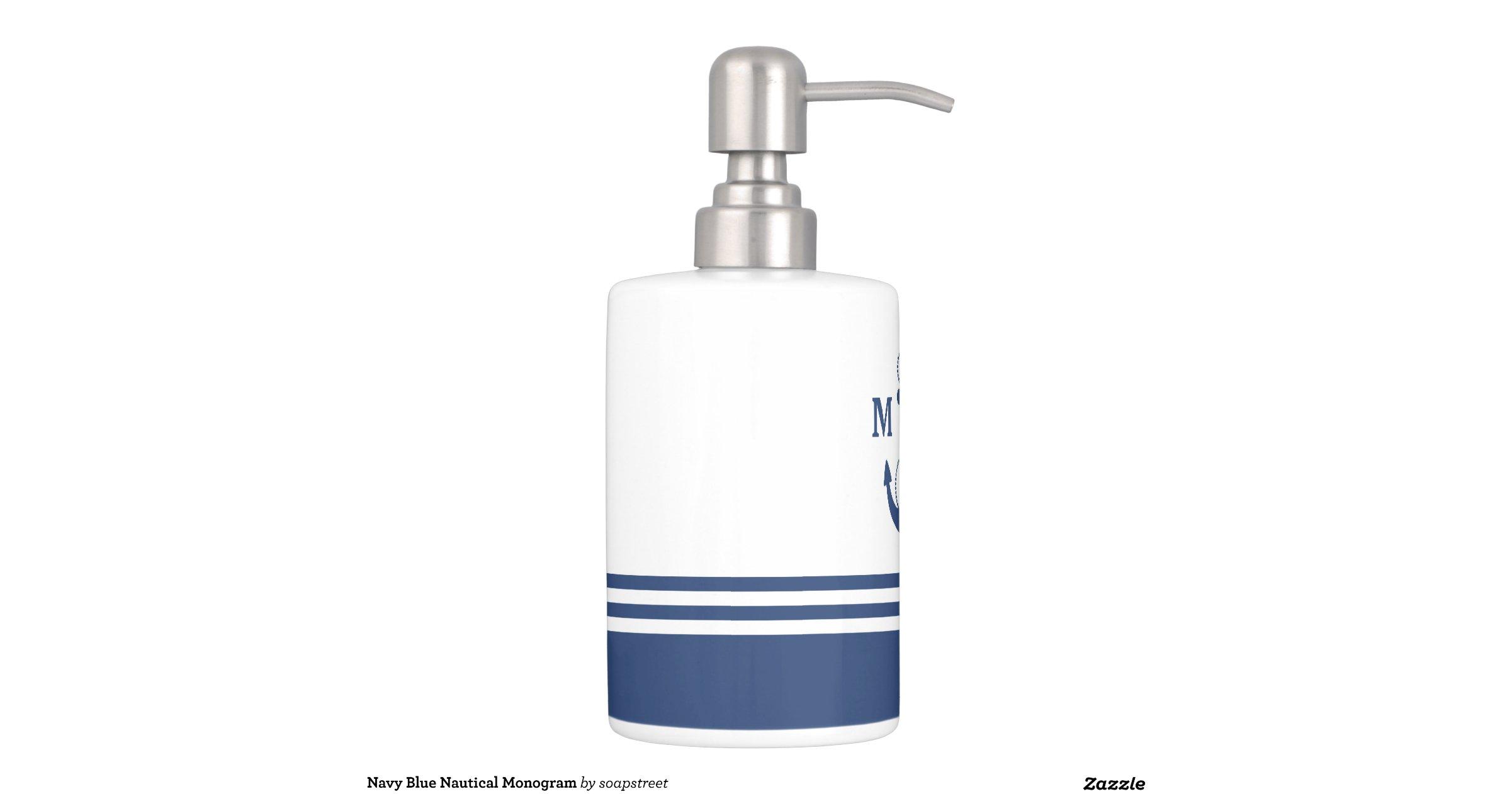 Nautical bathroom accessories sets navy blue nautical for Navy bathroom accessory sets