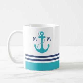 Nautical Monogram Classic White Coffee Mug