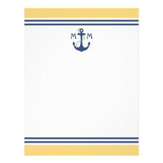 Nautical Monogram Custom Letterhead
