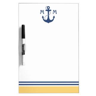 Nautical Monogram Dry-Erase Board