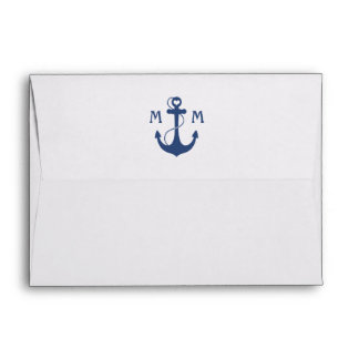 Nautical Monogram Envelopes