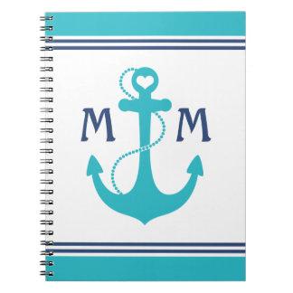 Nautical Monogram Journals