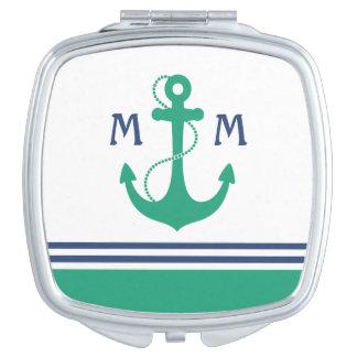 Nautical Monogram Makeup Mirror