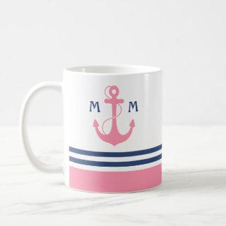 Nautical Monogram Mug