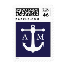 Nautical Monogram Postage Stamp