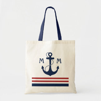 Nautical Monogram Tote Bag