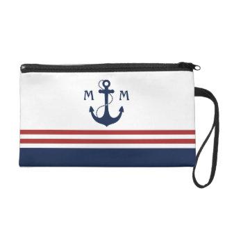 Nautical Monogram Wristlet