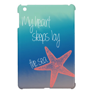 "Nautical ""My heart sleeps by the sea"" starfish Case For The iPad Mini"