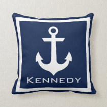 Nautical Name Throw Pillow