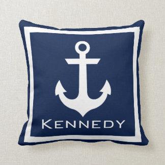 Nautical Name Throw Pillow