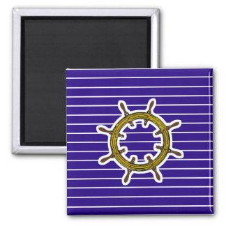 Nautical Navigation Wheel 2 Inch Square Magnet