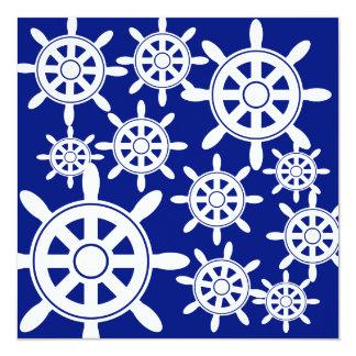 Nautical Navigation Wheel Card