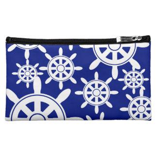 Nautical Navigation Wheel Cosmetic Bag