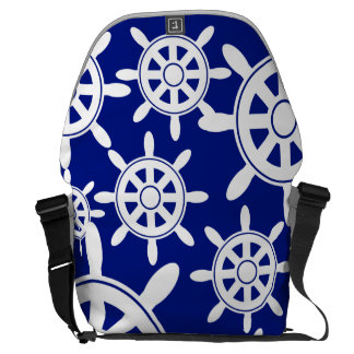 Nautical Navigation Wheel Courier Bags