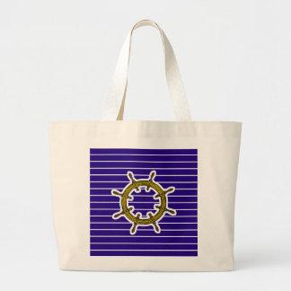Nautical Navigation Wheel Jumbo Tote Bag