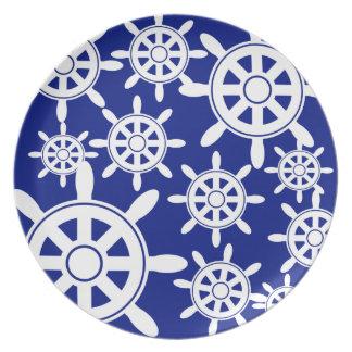 Nautical Navigation Wheel Plate