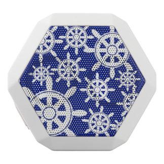 Nautical Navigation Wheel White Bluetooth Speaker