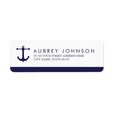 origamiprints Nautical Navy Address Labels