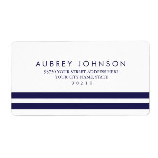 Nautical Navy Address Labels Shipping Label