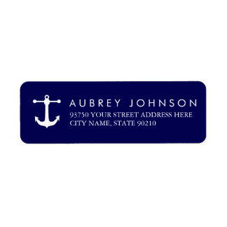 Nautical Navy Address Labels