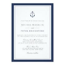 Nautical Navy Anchor Monogram Wedding Invitation